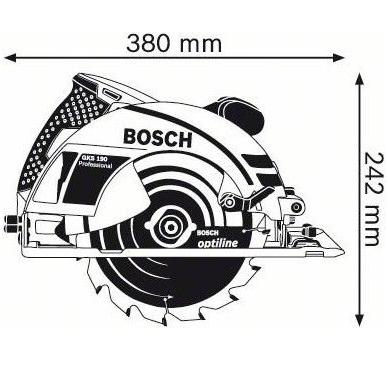 Diskinis pjūklas Bosch GKS 190 Professional 2