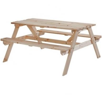 Medinis pikniko stalas