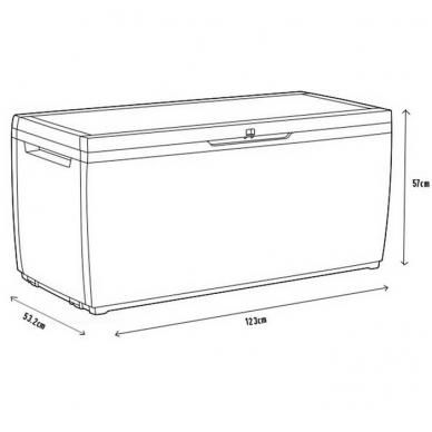 Plastikinė saugojimo dėžė 305L 2