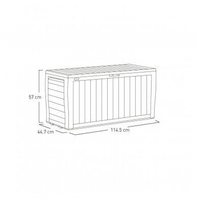 Rakinama plastikinė dėžė 270L 3