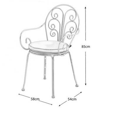 Senovinio stiliaus stalas ir 2 kėdės 2